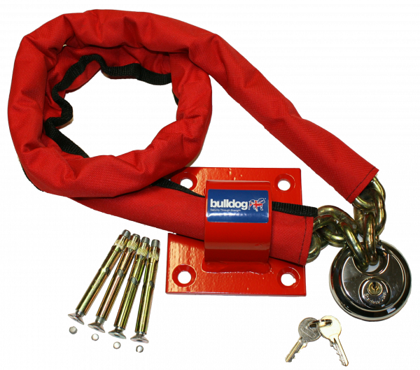 Bulldog MC30 High Security Chain, Padlock And Ground Anchor